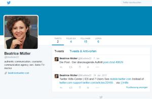 muellebe22 alias Beatrice Müller auf twitter